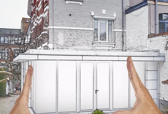 véranda sur une terrasse