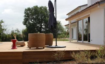 Nouvelle terrasse bois surélevée