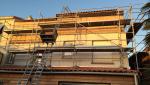 Travaux en cours pour une extension surélévation à St Julien de Concelles