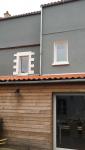 Réalisation d'une extension à St Julien de Concelles (44) - façade vue jardin